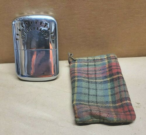 Vintage David T Abercrombie Co. Hi-Lo Heaterette Hand Warmer w/Pouch