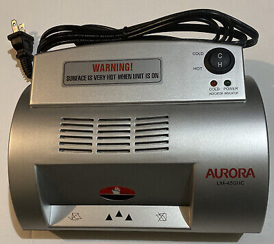 Aurora Lm-450hc Homeoffice 4 Card Laminator Machine Hotcold Laminating