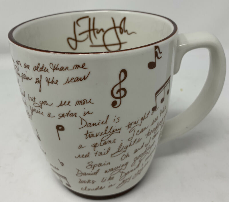 "Elton John ""Daniel"" Entire Lyrics Coffee Mug Very Unique And Collectible"