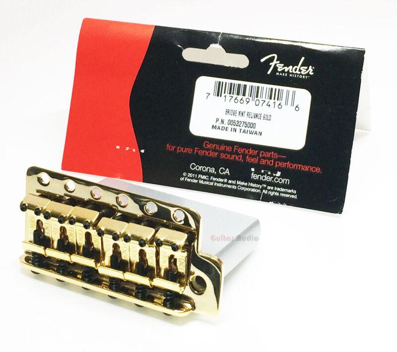 Genuine Fender MIM Classic/Highway 1 Strat Stratocaster Tremolo Bridge - Gold