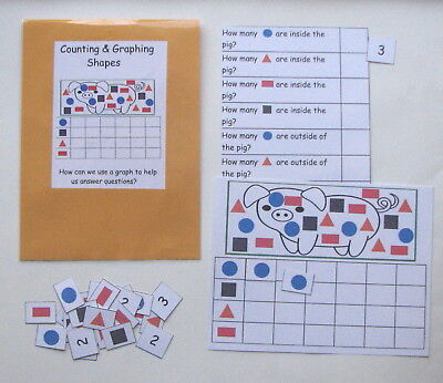 Teacher Made Math Center Learning Resource Game Counting - Graph Math