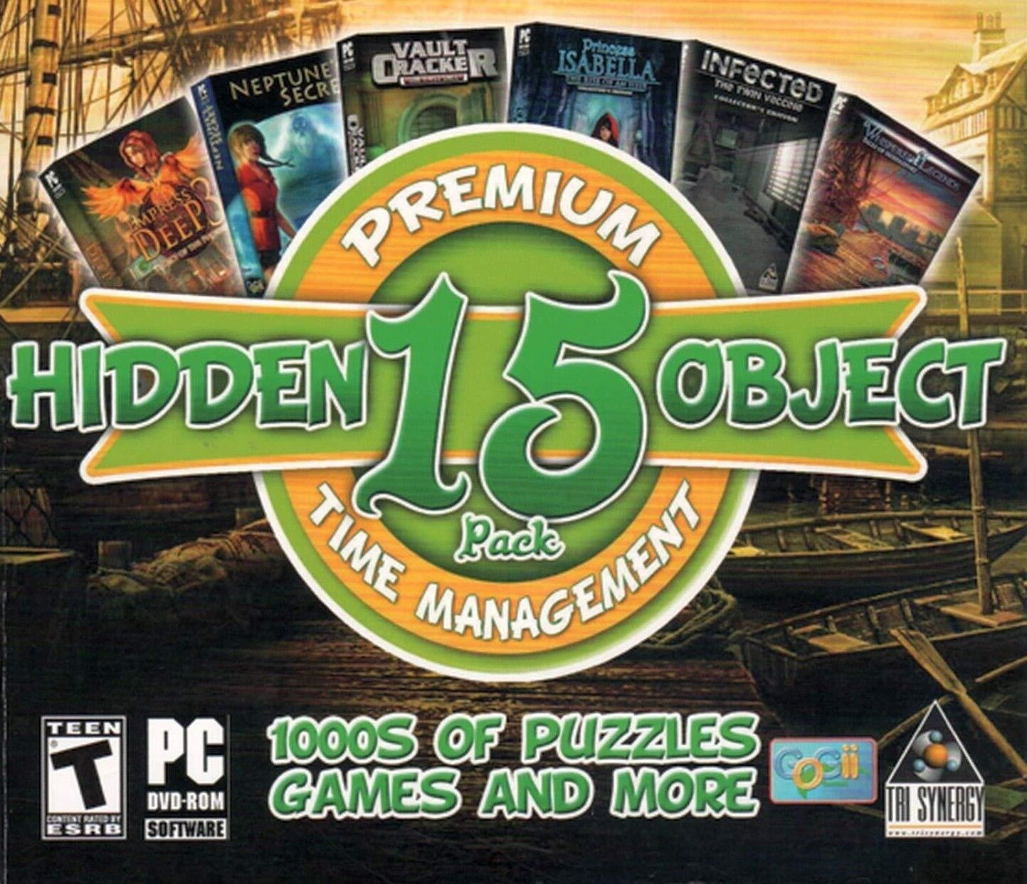 Computer Games - Hidden Object And Time Management 15 Pack PC Games Windows 10 8 7 XP Computer
