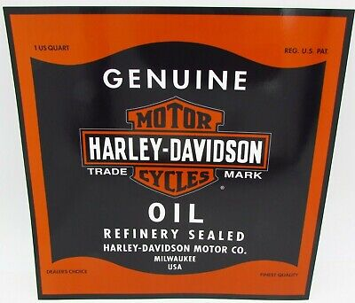 """Harley Davidson Motorcycles Oil Can Bar & Shield Large Sticker Decal 10 1/2"""""""