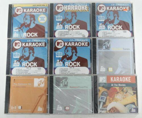 MTV Karaoke: The Singing Machine CDG Karaoke CD - Large lot of 21 Disc