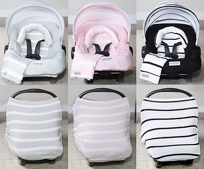 - THE WHOLE CABOODLE 5 PC SET CAR SEAT CANOPY COVER JERSEY STRETCH BABY BOYS GIRLS