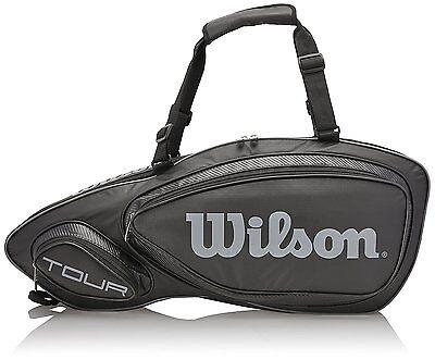 Wilson Tour V (3-pack) Tennis Bag, Black, WRZ843603