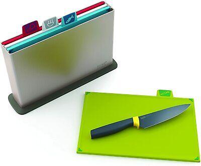 Joseph Joseph Index Chopping Board Set | Set of 4 | Includes Storage Case