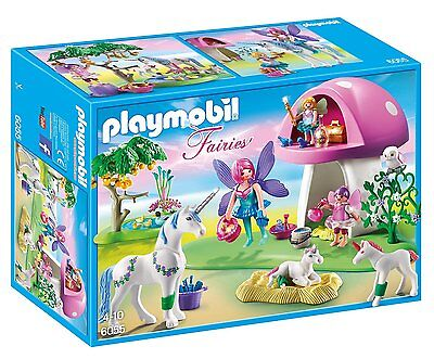 Playmobil 6055 Princess Fairies Playset Toadstool House Ages 4+ Fairy Toy Play