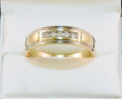 9CT GOLD DIAMOND RING 0.15 CT, LARGE GOLD DIAMOND RING SIZE V 1/2