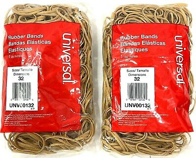 Universal Rubber Bands Size 32 3 X 18 820 Bands Per 1lb 2 Pack 1640 Total New