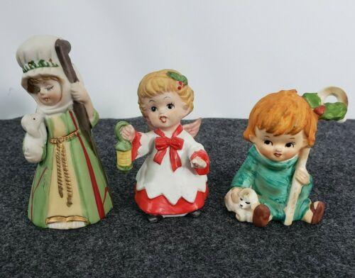 Vintage Christmas Figurines Bell, Lefton+ Bell, Shepherd, Angel