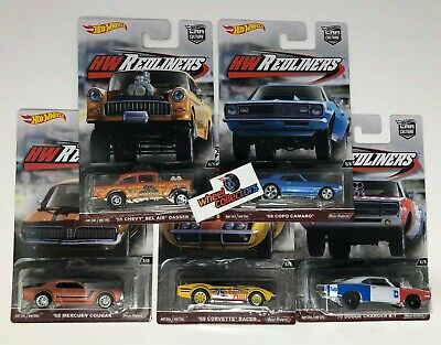 SALE!  REDLINERS * 5 Car Set * Hot Wheels Car Culture w/