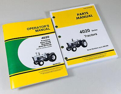 Operator Parts Manual Set For John Deere 4020 Tractor Catalog Sn91000-200999