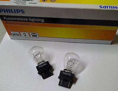 10x Glühlampe USA 12V 27/7W 2 Faden klar Philips 3057 / 3057CP Dodge GMC Ford