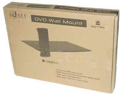 """Wali DVD Cable Video Game Console Wall Mount Shelf 15"""" x 11"""" Smoke Glass CS201-1 for sale  Shipping to India"""