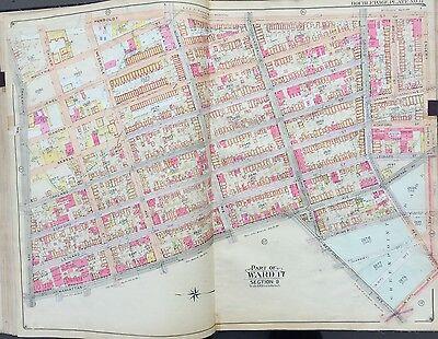 1904 GREENPOINT, BROOKLYN NEW YORK E. BELCHER HYDE ATLAS MAP