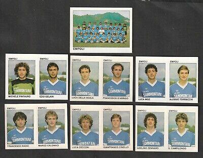 LOTTO DI 7 FIGURINE ALBUM CALCIATORI CALCIO FLASH 84 1983-84 EMPOLI COMPLETA