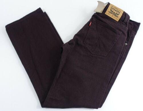 Boys Levis 505 Jeans 18 regular 29x29 Straight Fit Below Waist Burntwood Color