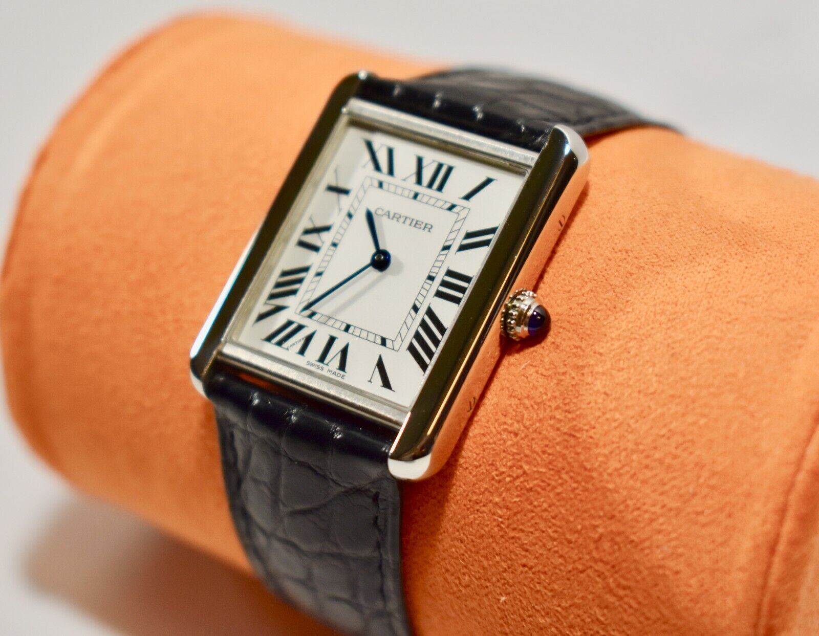 Cartier Tank Solo Quartz Swiss Watch for Men – Stainless Steel - watch picture 1