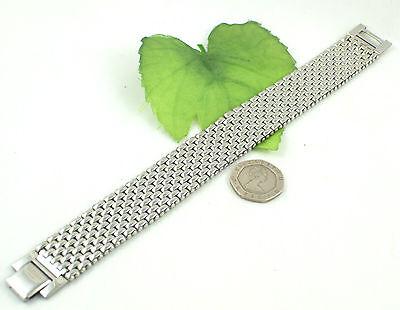 Gatik BR1019 Gents 316L Stainless Steel 9 Row Brick Link Watch Style Bracelet