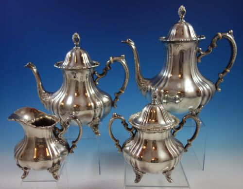 Poole Sterling Silver Tea Set 4pc #990 (#1583)