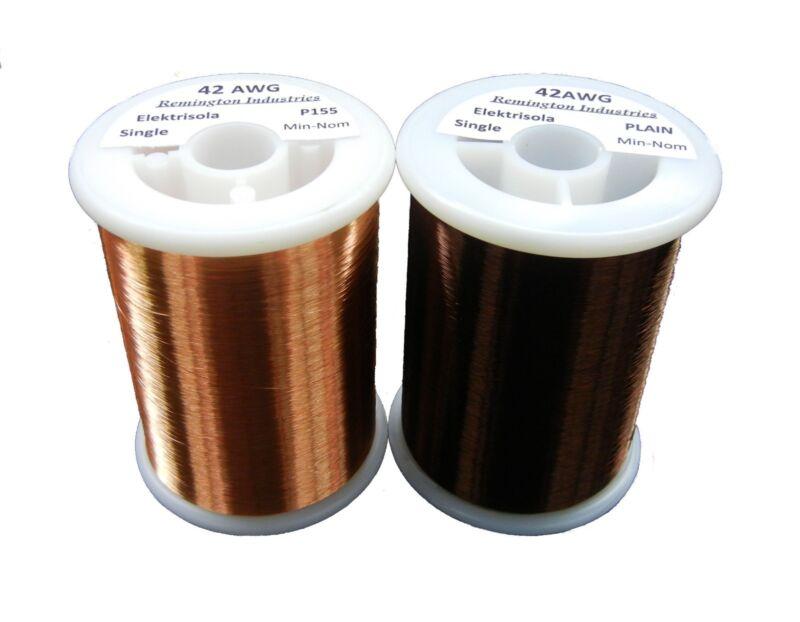 Pickup Winders Kit #3 - 42 AWG & 42 Plain Enamel Copper Magnet Wire - 1.0 lbs
