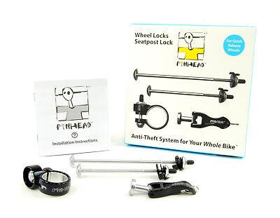 Pinhead Bicycle Locking Skewer Set, 3 Pack