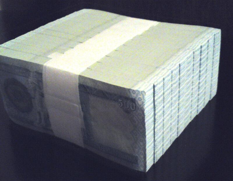5000 Iraq Iraqi Dinar  10 X 500 Dinar Notes  Limit Of 2 Sets  5,000 Total