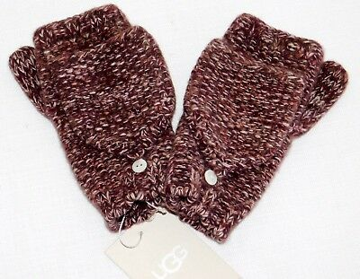 NEW WOMENS ONE SIZE UGG CASHMERE FLIP MITTENS KNIT GLOVES W/ THUMB PORT HEATHER for sale  Ventura