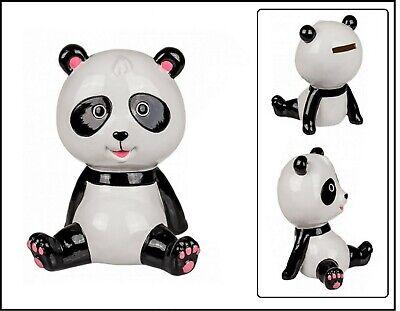 Oso Panda Cerámica Hucha Sentado Panda Hucha Decoración 16x10x10 CM