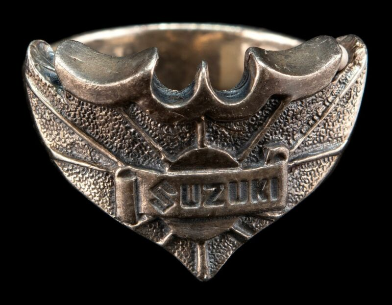 Vintage Sterling Silver SUZUKI Ring A.S.Co Size 11