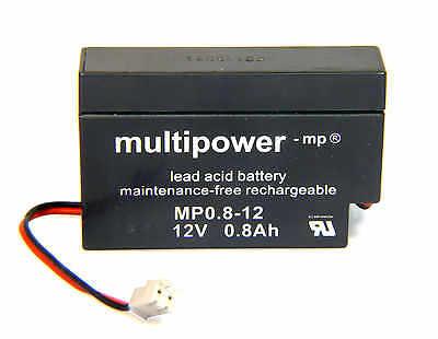 Multipower 12V-AGM-Bleiakku  0,8Ah NEUWARE Bleiaccu JST