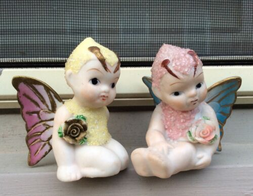 CORALENE BABY SNOW BUTTERFLY GIRLS - Japan Pat 16977 Vintage Figurines Ceramic