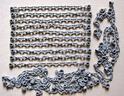 LEGO LOT OF 25 LIGHT BLUEISH GREY CASTLE KINGDOMS STAR WARS CHAIN LINKED CHAINS