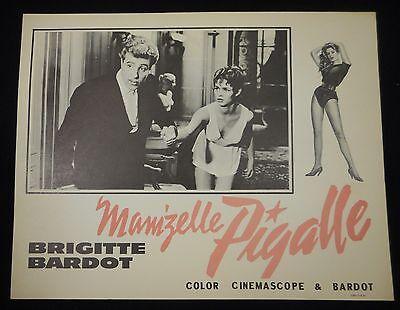 Brigitte Bardot Mam'zelle Pigalle Naughty Girl 1956 US Lobby Card VF Mamzelle