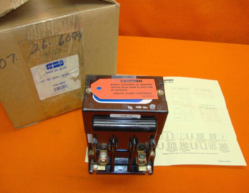 NEW Joslyn Clark Motor Contactor 5DP2-20100 Starter 5DP220100 56 Amp 500 Volt