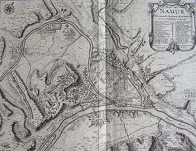 plan de namur, ville capitale du comté même nom. gravé inselin. a paris1740