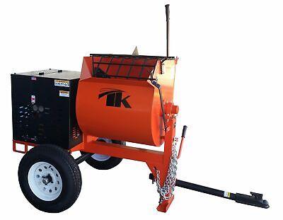8 Cu Ft.0 Towable Steel Drum Concrete Cement Mortar Plaster Mixer W Honda