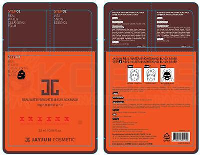 3PCS JAYJUN Real Water Brightening Black Mask 1 Sheets With Essence & Eye Cream