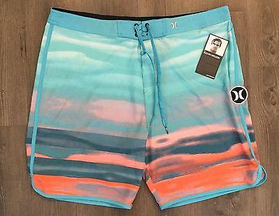 HURLEY Men's $65 Phantom Julian Wilson Blue/Orange Board Shorts  - Size 38
