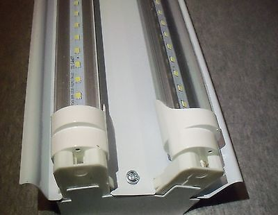 4 FT LED Light Fixture With T8 LED Bulbs Shop And Garage Clear Bulbs FREE SHIP for sale  USA