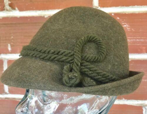 Auth Vintage Oktoberfest Swiss Alpine Lurati Switzerland 100% Wool Hat LL Bean