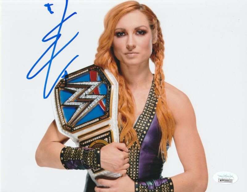 Becky Lynch Autograph 8X10 Photo WWE THE MAN Signed JSA COA 3
