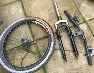 Old Mountain Bike Parts Sun Rims RST Shocks Specialized Handle