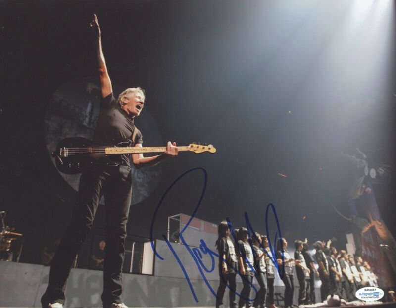 Roger Waters Autographed Signed 11x14 Photo Pink Floyd The Wall ACOA RACC