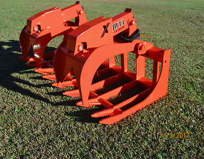 2019 Mtl X-series 72 Root Grapple Bucket Skid Steer Bobcat-kubota-free Ship