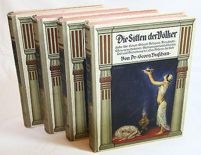 Die Sitten der Völker - 4 Bände  von 1890