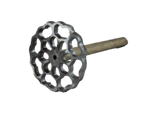 Bunuelera Mexican Aluminum Wood Handle Molde Para Bunuelos Rustic Buñuelos