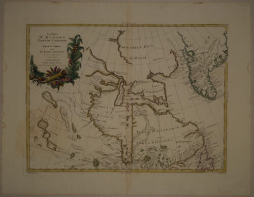 1778 Genuine Antique map Hudson