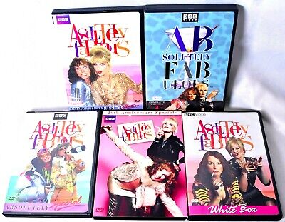 (LOT OF 5) ABSOLUTELY FABULOUS BBC DVD (Series 1-4 & 3 Specials) MINT Discs